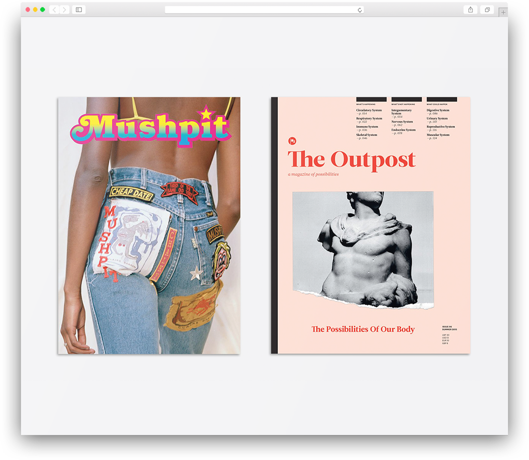 Mushpit and The Outpost magazines