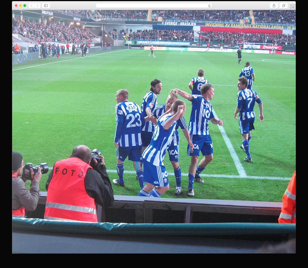 IFK Goteborg celebrate